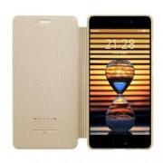Husa flip s-view Nillkin Sparkle pentru Meizu Pro 7 plus auriu