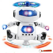 Kids Electronic Robot & Dancing Robot,Smart Space Robot Astronaut Music Light Toy ,Battery Powered with Lights and Music
