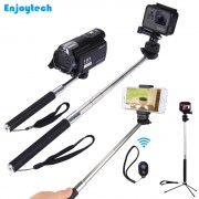 Mini Handheld Selfie Stick With Phone holder/Bluetooth Remote/Mini Tripod For Iphone Samsung Xiaomi Phones Monopod for Gopro