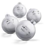 YourSurprise Boule de Noël en verre - Argent (4 pièces)