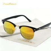 Ochelari de soare rame negre lentile aurii ProudDemon
