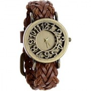 Brown Guttheli Golden Dial Analog Watches for Women
