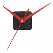 Meco 20mm Shaft Length DIY Red Triangle Hands Silent Quartz Wall Clock Movement Mechanism For Replacement