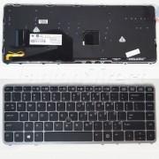 Tastatura Laptop HP EliteBook 840 G2 cu rama argintie iluminata + CADOU