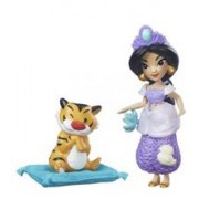 Figurina Hasbro Disney Princess Little Kingdom Small Doll & Friend Jasmin'S Slumber Party