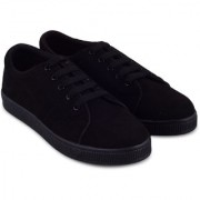 Trendy Look All Weather Suede Sneakers For Women (Black)