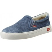 Levis Men's Kerman Low Charcoal Denim Sneakers - 8 UK