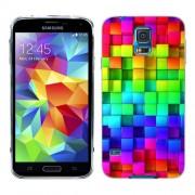 Husa Samsung Galaxy S5 Mini G800F Silicon Gel Tpu Model Colorful Cubes