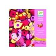 Zestaw artystyczny drewnianych koralików PTAKI, tworzenie biżuterii dla dziewczynek DJECO, DJ09809