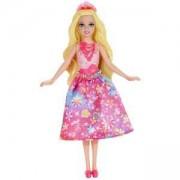 Малка кукла Барби с шарена рокля, Barbie, 171178-1