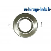 Support LED encastrable chrome orientable perçage 70mm ref sln-03