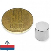 Magnet neodim cilindru / disc 10 x 10 mm