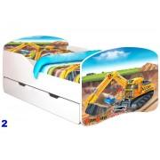 Patut Nobiko Rainbow Banbao Line 140 x 70 cu saltea si sertar Construction 2