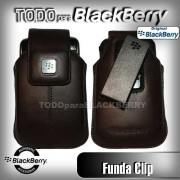 Funda Vertical 9500 9530 9550 9520 Storm Cafe Clip original Blackberry HDW-18969-002