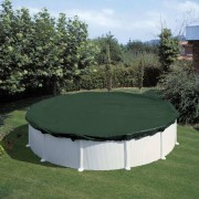 Summer Fun talvine basseinikate, ümmargune, 460 cm, PVC, roheline