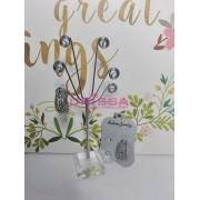 Cercei clips design floral