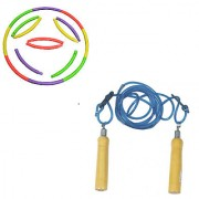Combo Hoola Hoop Ring & Skipping Rope Adjustable. Grab Now.!!