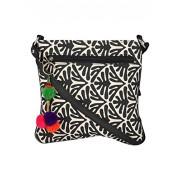 Pick Pocket Women's Sling Bag (Black & Beige,Slboss92)
