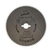 Disc fierastrau circular Wolfcraft Ø130x2x16 mm 80 dinti