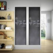 vidaXL Autocolante quadro negro com gizes 0,45 x 2 m (2 Rolos)