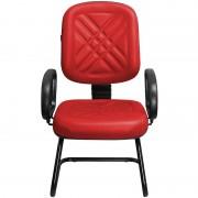 Cadeira Fixa para Recepções e Igrejas Diretor Vermelha - Pethiflex