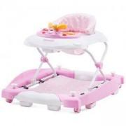 Бебешка проходилка с люлка - Хели, розова, Chipolinno, 350681