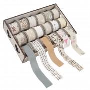 Deko-Box Band, Deko-Band Bänderbox, 18 Rollen je 2,85m ~ Variantenangebot