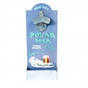 """Tablou vintage """"Polar beer"""" desfacator sticle si suport capace"""