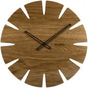 Velké dubové hodiny VLAHA ORIGINAL vyrobené v Čechách s černými ručkami VCT1032