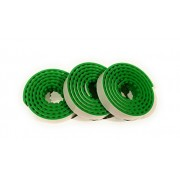 Stuff N Junk 2 Stick and Build (3 Pk) Silicone Building Block Tape Rolls, Compatible w/ ALL Lego Blocks (Mini Figures, Duplo) Mega Bloks! Perfect for All Ages Total 9ft of Fun (3ft per roll) (green)