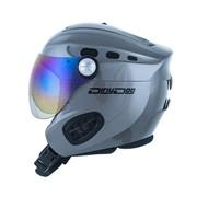 Dirty Dog APACHE Ski Helmet with Visor - Dark Silver