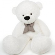 Multi Soft Fabric India Kid's 5 Feet Jumbo Teddy Bear Stuffed Soft Push Toy Good Quality Fabrics (White)