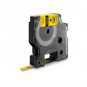 Etichete tub termocontractibil DYMO ID1 6mm x 1.5m negru galben 18052 S0718270