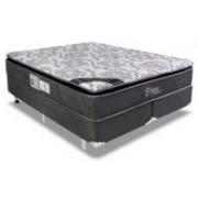 Conjunto Box Colchão Luckspuma Molas Pocket Eclypse + Cama Box Nobuck Cinza - Conjunto Box King Size - 193 x 203