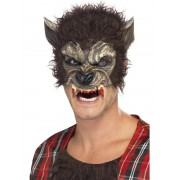 Masca horror varcolac maro Halloween