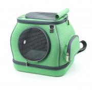 Breathable Pet Carrier Cat Dog Puppy Travel Portable Pet Bag Case 30x30x25cm - Green
