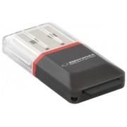 Card Reader ESPERANZA MicroSD- EA134K- negru - USB 2.0-(MicroSD Pen Drive)