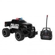 World Tech Toys Ford F-150 Police 1:14 RTR Electric RC Monster Truck, Black, 13.5 x 7