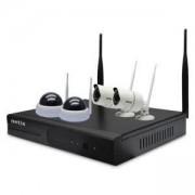Комплект за видеонаблюдение NETIS SEK204W, включва 4броя IP безжични камери + 1 брой NVR, SEK204W