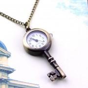 Collar Vintage con Reloj Colgante-Dorado