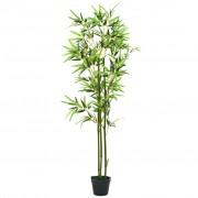 vidaXL Plantă bambus artificial cu ghiveci 150 cm Verde