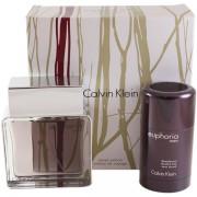 Calvin Klein Euphoria Комплект (EDT 100ml + Deo Stick 75ml) за Мъже