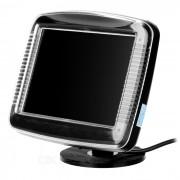 """XY-2063 3.5 """"TFT LCD 0.53W coche retrovisor sistema espejo monitor - negro"""