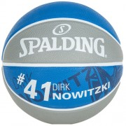 Spalding Basketball NBA DIRK NOWITZKI (Outdoor) - grau/royal | 5