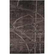 RugVista Printings - Mörkbrun matta 200x300 Modern Matta