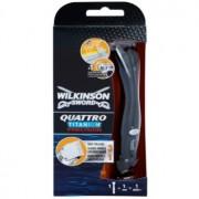 Wilkinson Sword Quattro Titanium Precision машинка за подстригване и бърснене за мокро бръснене