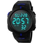 idivas 108 NEW Readeel Simple Sport Watch Display Watch Outdoor Men Watch Student Multifunction Digital Watch Blue 6 MONTH WARRANTY