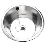 Franke Sissons Stainless Steel Rimmed Edge Round Inset Sink Bowl 430mm
