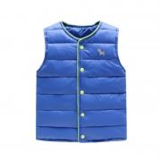 Kids Girls Vests Children's Down Parkas Cotton Warm Vest Baby Girl Boy Sweet Solid Waistcoat Outerwear