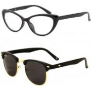 Royal Son Cat-eye Sunglasses(Black)